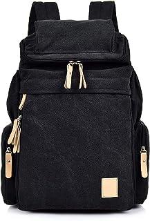 Mochilas Lona, Popoti Mochila Escolar Backpack Laptop Portátil Bag Daypack Unisex Rucksack para School Viaja Senderismo Gr...