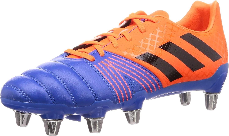 adidas Kakari SG Soft Ground 5 popular Mens Rugby Union Year-end gift Boot Blue - Orange