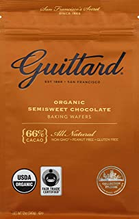 Guittard, Baking Wafer Semisweet 66% Organic, 12 Ounce