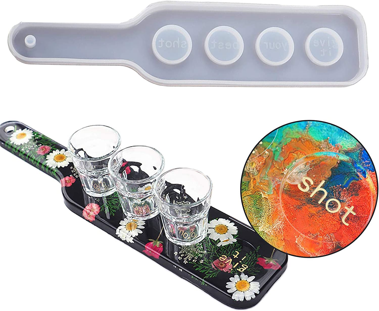 Shot Glass Serving Resin Tray Holder Mold Discount mail order Mo Ranking TOP20 Uv