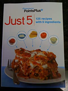 NEW 2011 Weight Watchers Points Plus Just 5 125 Recipes with 5 Ingredients Cookbook