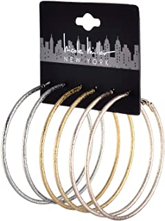 Nicole Miller New York Set (3pc) Pairs of Silvertone...