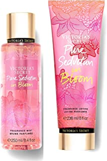 Victoria Secret In Bloom Fragrance Mist and Lotion Set (2PC) - 8.4 fl oz & 8 fl oz (Pure Seduction in Bloom)