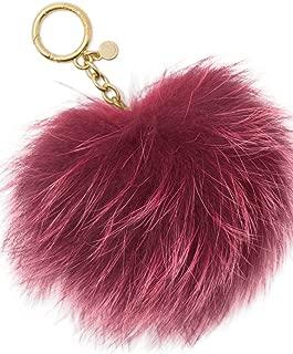Fur Pom Pom Keychain Charm Red