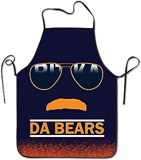 Feddiy Da Bears Chicago Windy City Mustache Glasses Kitchen Apron, 52 Cm X 72 Cm