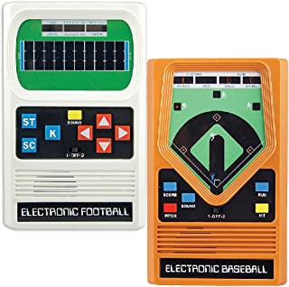 Schylling Associates Inc (Set) Classic 70's Retro Electronic Baseball and Football Hand Held Games