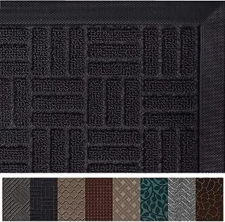 Gorilla Grip Original Durable Rubber Door Mat, 47 x 35, Heavy Duty Doormat for Indoor Outdoor, Waterproof, Easy Clean, Low-Profile Rug Mats for Entry, Patio, High Traffic Areas, Black Maze