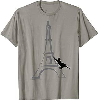 French France Paris Flag Eiffel Tower Cat T Shirt