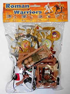 Sunjade 1/32 Roman / Greek Warriors & Armor Figure Playset 1/32 Scale Plastic Toy Soldiers Set.