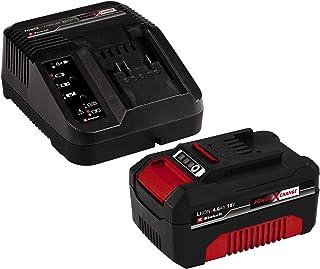 Einhell 4512042 - Kit con Cargador y batería de repuesto de 18 V, 4 Ah, 0 W, 21 V, 4.0, Negro, Rojo