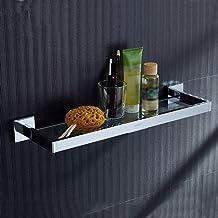 Yxsd Badkamer glazen plank, plank enkellaags koperen glas kaptafel plank badkamer hanger badkamer plank glas (Maat: 60cm)