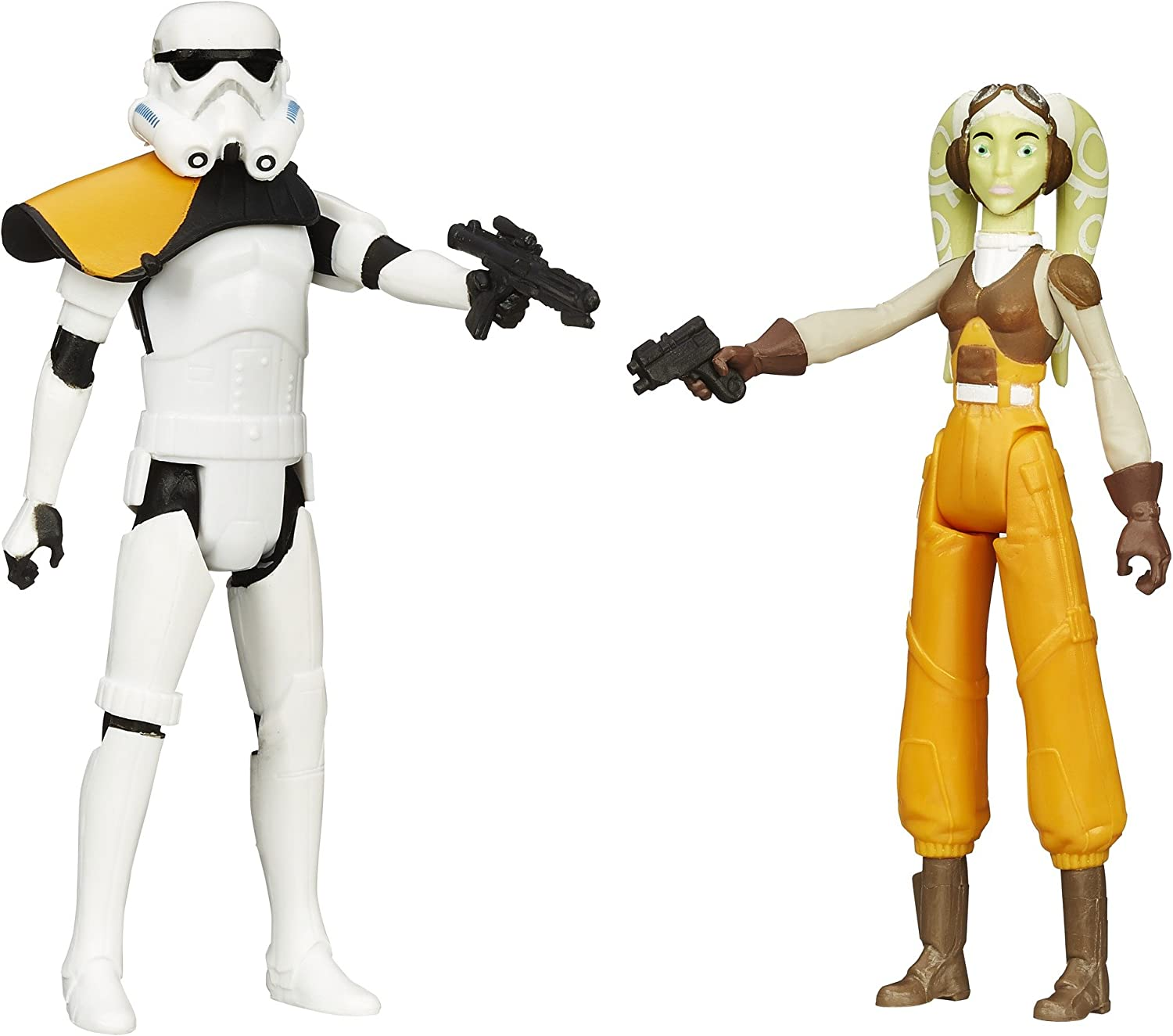 Star Wars Mission Series Hera Syndulla and Stormtrooper Commander Action Figures