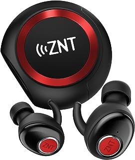 ワイヤレスイヤホン ZNT AirFits Pro ステレオヘ 完全ワイヤレスイヤホン 自動ペアリング Bluetooth5.0 左右分離型 高音質 Bluetooth イヤホン IPX5 充電ケース付 自動ON/OFF マイク内蔵 (赤)