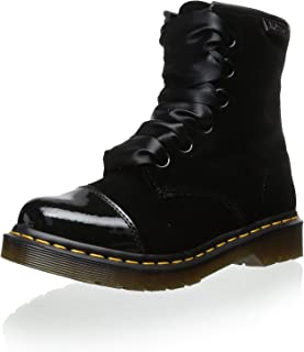 Dr. Martens Women`s Gracie 1460 Boot Black Patent Ze You Velvet US 5 EU 36 UK 3