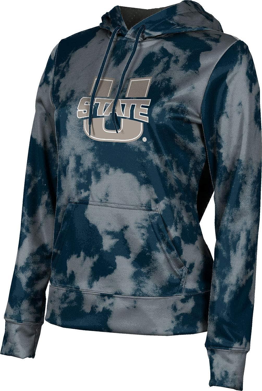 ProSphere Utah State University Girls' Pullover Hoodie, School Spirit Sweatshirt (Grunge)