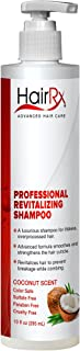 HairRx Professional Revitalizing Shampoo with Pump, Luxurious Lather, Coconut Scent, 10 Ounce