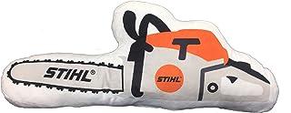 Stihl Kudde i motorsågsform av mjukt plyschmaterial längd ca 50 cm