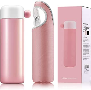 Elegant Life Vacuum Insulated Stainless Steel Water Bottle 16 oz Sports Cold Water Bottle -Match With a Superior Cup Set (pink)