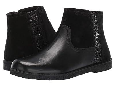 Geox Kids Jr Shawntel 13 (Big Kid) (Black Oxford) Girls Shoes