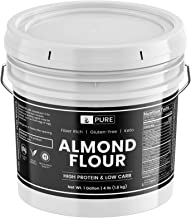 Almond Flour (1 Gallon Bucket, 4 lbs) by Pure Organic Ingredients, Gluten-Free, Blanched, Ground, Vegan, Paleo & Keto Friendly, Strong Resealable Bucket (Also Available in 5 Gallon Bucket)