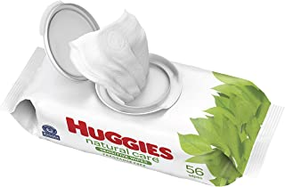 Baby Wipes, Huggies Natural Care Sensitive Baby Diaper Wipes, Unscented, Hypoallergenic, 1 Flip-Top Packs (56 Wipes Total)