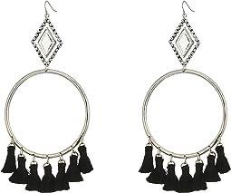 The Ania Tassel Hoop Earrings