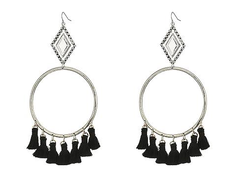 VANESSA MOONEY The Ania Tassel Hoop Earrings, Silver