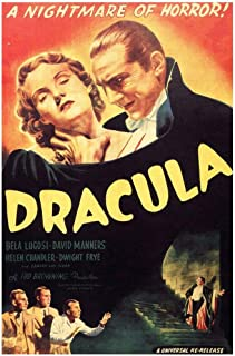 Dracula A Nightmare of Horror Movie Film Classic Cool Wall Decor Art Print Poster 24x36