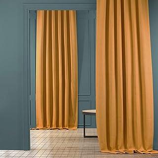 HPD Half Price Drapes BOCH-LN18518-84 Faux Linen Blackout Room Darkening Curtain (1..