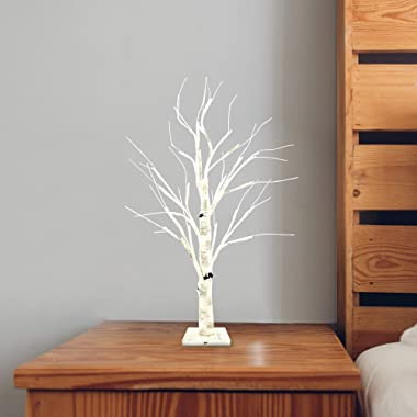 """Joiedomi 24"""" LED Birch Tree with 24 Lights, Warm White Tabletop Centerpiece Bonsai Tree Light Jewelry Holder Decor for Ho"""