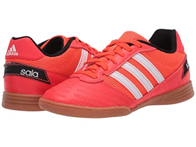 adidas Kids Super Sala Soccer (Little Kid/Big Kid) (Solar Red/White/Black) Kids Shoes