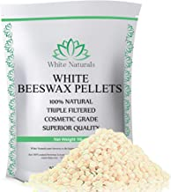 Limited Time Sale! White Beeswax Pellets 1 lb (16 oz), Pure, Natural, Cosmetic Grade, Top Quality Bees Wax Pastilles, Triple Filtered, Great For DIY Lip Balms, Lotions, Candles By White Naturals