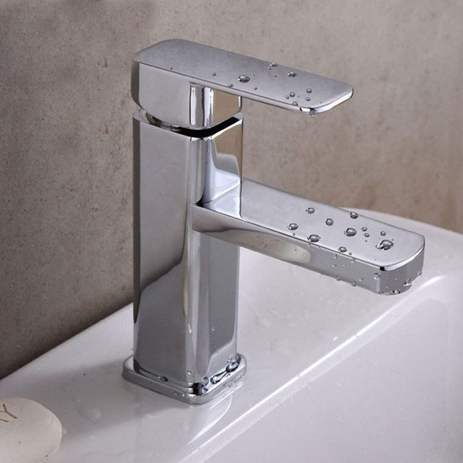 LDONGSH Bathroom Hot And Cold Wash Basin Copper Single Hole Toilet Electroplating Faucet Tap