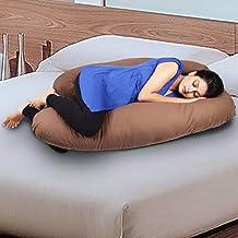 Novo 3.5Kg Pp Cotton Comfort Pregnancy & Maternity Pillow, Brown - 145X90X25Cm,