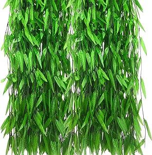 CozofLuv 50Pcs 2.1M Artificial Guirnalda de Hiedra Planta
