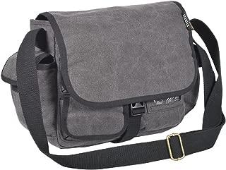 Everest - Bolso bandolera de lona para equipaje, Carbón, Una talla