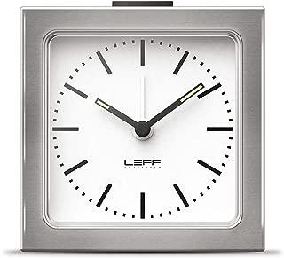 Leff Amsterdam 8.5 x 8.5 x 6 cm Stainless Steel Block Alarm Clock Station, Silver