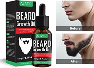 Beard Growth Oil, Natural Organic Hair Growth Oil Beard Oil Enhancer Facial Nutrition Moustache Grow Beard Shaping Tool Beard Care Products Hair Loss Products (30ml)