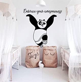 Kung Fu Panda Wall Decal Panda Wall Decal Quote Decal Kids Room Decor Kung Fu Panda Vinyl Decal Office Decals Playroom Decals Sticker