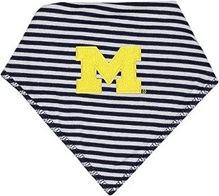 University of Michigan Striped Baby Bandana Bib