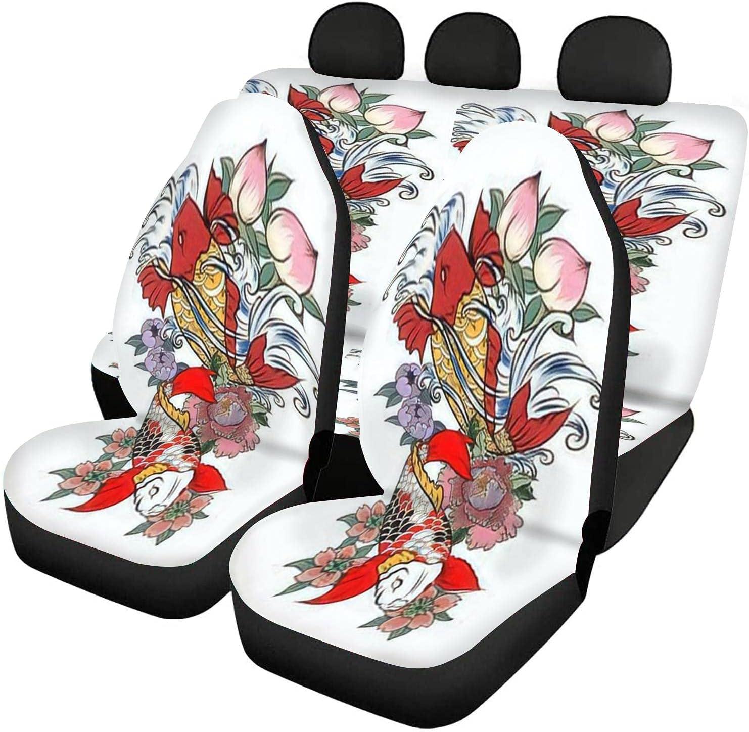 GDSJEGQM Car Seat Covers Full Trust Japanese Tattoo Set Minneapolis Mall - Design