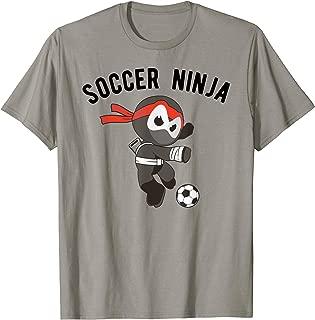 Soccer Ninja T-Shirt, Fun Footballer Tee Girls Boys Apparel