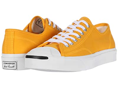 Converse Jack Purcell Twill Ox (Laser Orange/White/White) Shoes