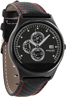 X-WATCH QIN XW PRIME II carbon red black Männer Smartwatch – Fitness Armbanduhr für Herren