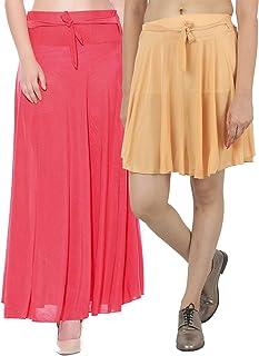 Mixcult Dam kombination med 2 st långa och små enfärgade crepe-utsvängda kjolar