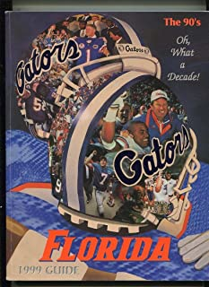 Florida Gators Football Guide 1999 The 90's Oh What A Decade MBX1