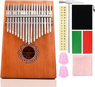ZITFRI Kalimba Instrument Kalimba Pouce Piano 17 Cles Instrument de Musique du Monde Piano a Doigt Kalimba Africain pour A...