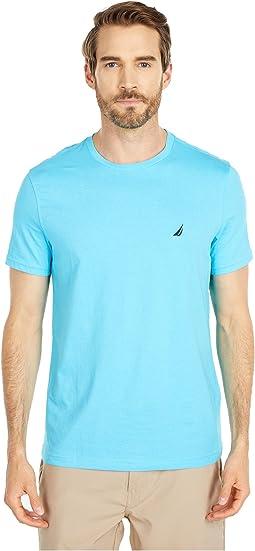 Short Sleeve Solid Crew Neck T-Shirt
