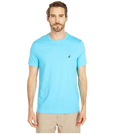 Nautica Short Sleeve Solid Crew Neck T-Shirt (Blue 3) Men