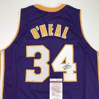 6f778007d Autographed Signed Shaquille Shaq O Neal Los Angeles LA Purple Basketball  Jersey JSA COA